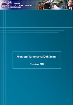 BTS_ve_Eylem Plani_(2006-2010)_Program_Tanimlama_Dokumani