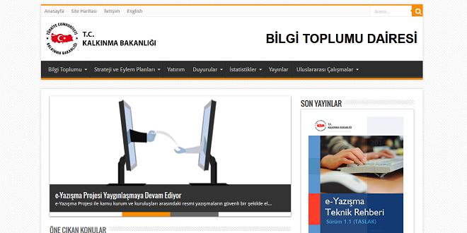 Bilgi Toplumu Dairesi internet sitesi yenilendi
