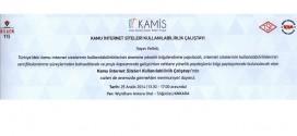KAMİS (Kamu İnternet Siteleri Rehberi) Projesi Çalıştayı